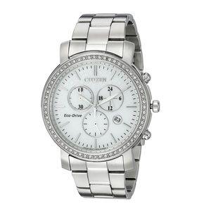 CITIZEN Eco Drive Diamond Accent Chronograph Watch
